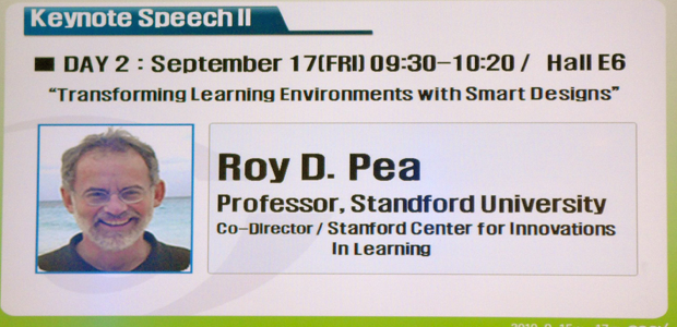 Roy Pea gives invited keynote address at 2010 E-Learning Week in Seoul, South Korea